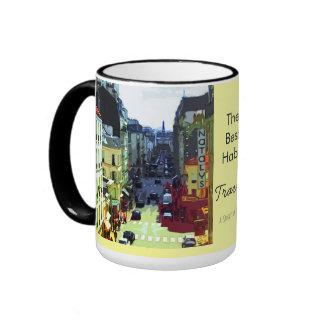 La rue de Paris, la meilleure habitude est voyage Tasse À Café