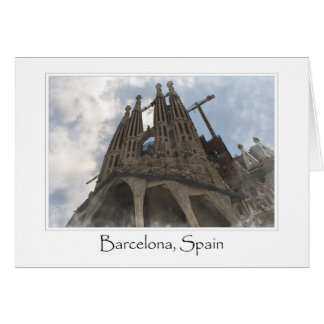 La Sagrada Familia à Barcelone Espagne Carte