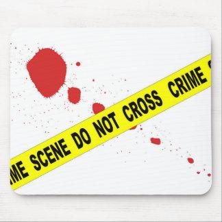 La scène du crime ne croisent pas tapis de souris