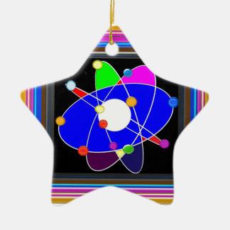 La science d'ATOME explorent l'ÉCOLE de recherches Ornement Étoile En Céramique