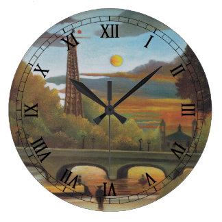 La Seine et Tour Eiffel au coucher du soleil par Grande Horloge Ronde