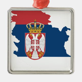 la Serbie Ornement Carré Argenté