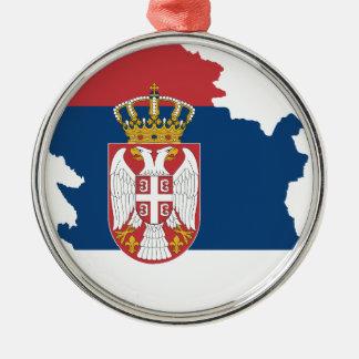 la Serbie Ornement Rond Argenté