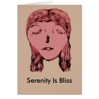 La sérénité est bonheur carte de correspondance