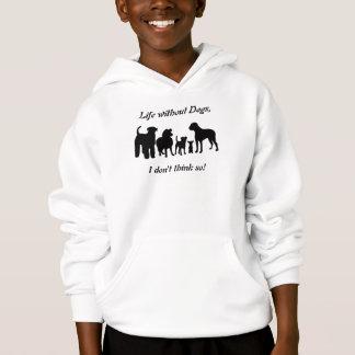 La silhouette de noir de groupe de race de chiens