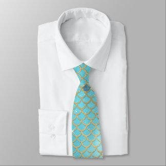 La sirène turquoise mesure le cravate de mariage