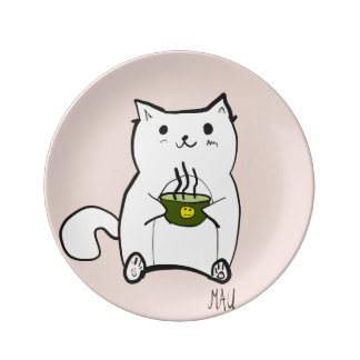 La soupe de Mau Assiettes En Porcelaine