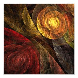 La spirale de la copie de photo d'art abstrait de