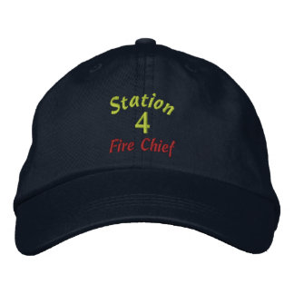 La station, 4, le feu Chef-A brodé le chapeau Casquettes De Baseball Brodées