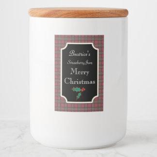 La sucrerie de Noël de pot marque des autocollants