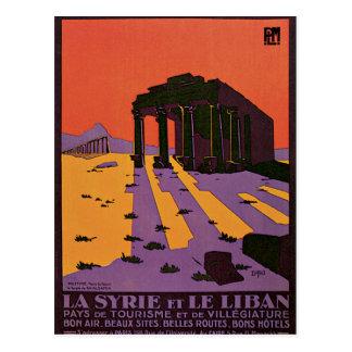 La Syrie et Le Liban Palmyre Carte Postale
