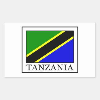 La Tanzanie Sticker Rectangulaire