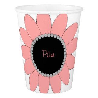 La tasse de papier de la fille faite sur commande, gobelets en papier