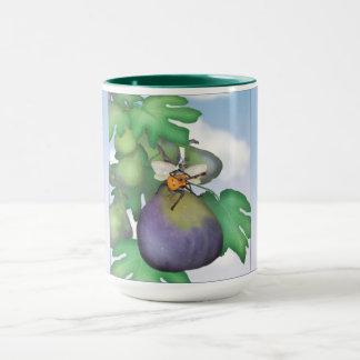 La tasse de promenade de guêpe de figue