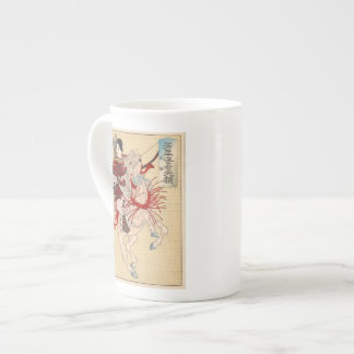 La tasse femelle de porcelaine tendre de Hangaku