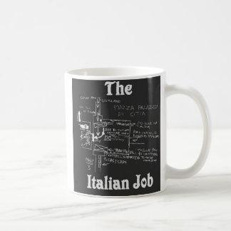 La tasse italienne de carte du travail