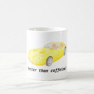 La tasse jaune toscane de voiture de TVR,