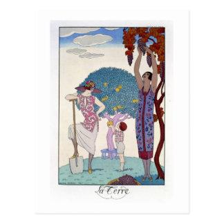 La terre, 1925 (litho de couleur) cartes postales