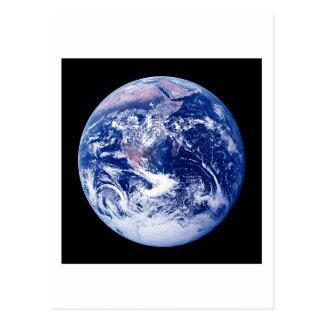La terre de planète carte postale
