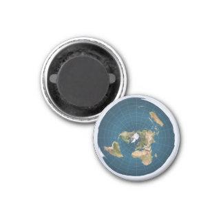 La terre plate EA azimutaux tracent autour de Magnet Carré 2,50 Cm
