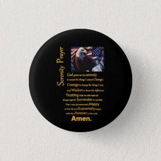 La tête d'Eagle de prière de sérénité Badge Rond 2,50 Cm