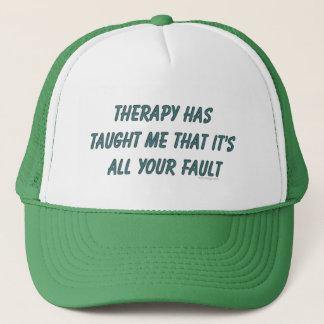 La thérapie m'a enseigné des casquettes