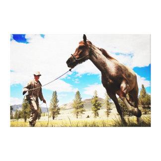 la toile de paysage de ranch de whisperer de