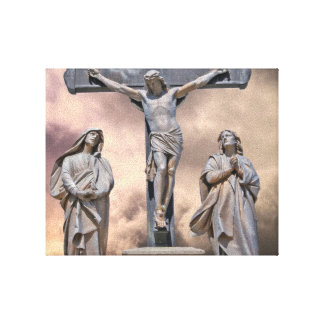 La toile enveloppée par crucifixion