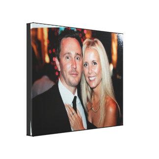 La toile enveloppée par photo de mariage créent vo toiles