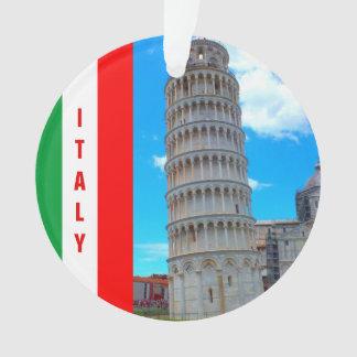 La tour penchée de Pise, de l'Italie et de croix