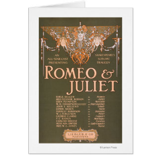 """La tragédie sublime """"Romeo et Juliet """" de Carte"""
