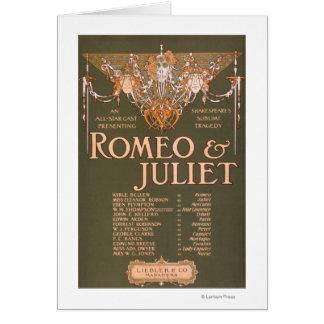 """La tragédie sublime """"Romeo et Juliet """" de Carte De Vœux"""