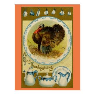 La Turquie vintage avec des plats Carte Postale