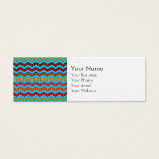 La turquoise barre la couleur de dessins mini carte de visite
