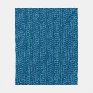 La turquoise sonne la couverture bleue d'ouatine