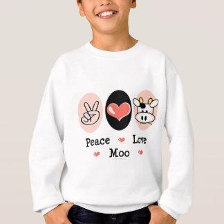 La vache à MOO d'amour de paix badine le Sweatshirt