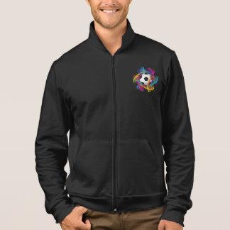 La veste des hommes colorés de ballon de football