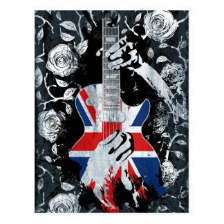 La vie BRITANNIQUE de guitare de musique de Carte Postale