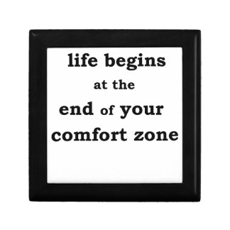la vie commence à la fin de votre zone de confort boîtes à bijoux