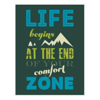 La vie commence la copie inspirée de typographie carte postale