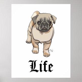 La vie de carlin - affiche drôle de calembour poster