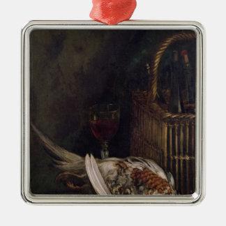 La vie de Claude Monet | toujours avec un faisan, Ornement Carré Argenté