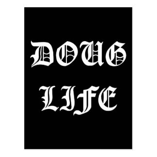 La vie de Doug (blanche) Carte Postale