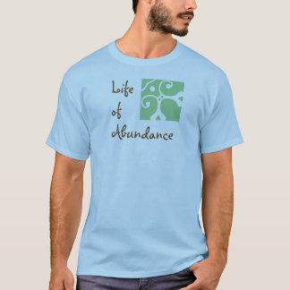 La vie de l'abondance. Le T-shirt des hommes.