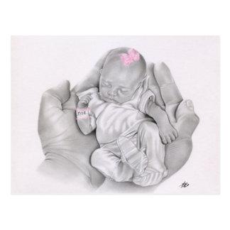 La vie en votre carte postale de bébé de mains