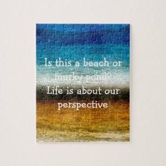 La vie est au sujet de notre perspective puzzle