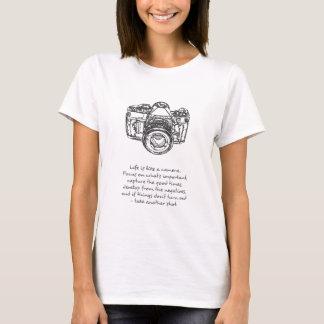 La vie est comme une citation d'appareil-photo t-shirt