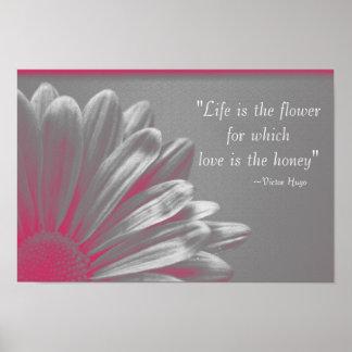 La vie est la fleur poster