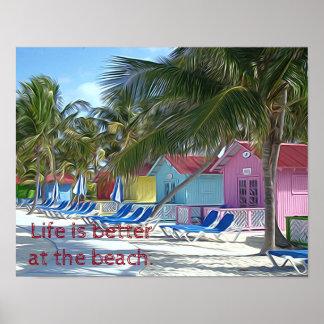 La vie est meilleure à la plage. Copie d'art