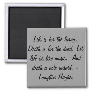 La vie est pour le vivant… magnet carré